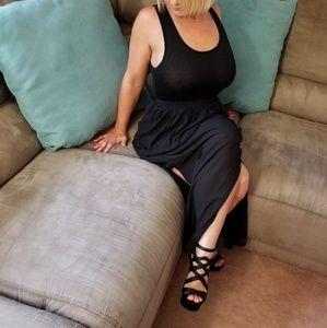 Pretty Black Maxi Dress